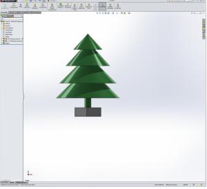 A beautiful evergreen tree