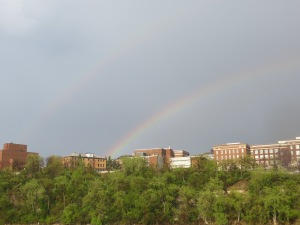 The silver lining: a double rainbow!