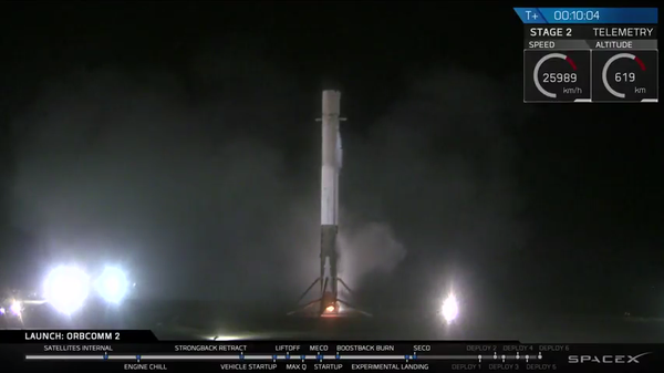 SpaceX Falcon 9 Landed at cape canaveral after first landing of first stage of orbital rocket