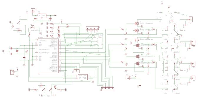 First LPRD PCB schematic as originally designed by Gaurav Manda