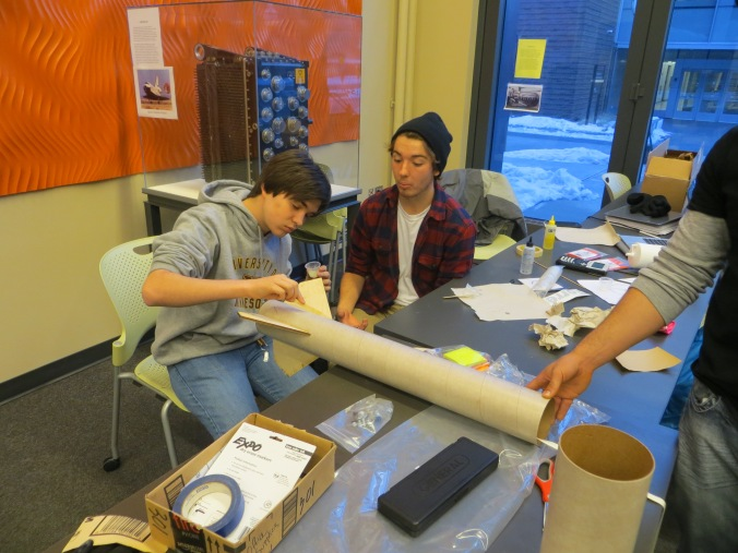 Glen Smith of LPRD Rocketry applying epoxy to our first hobby rocket