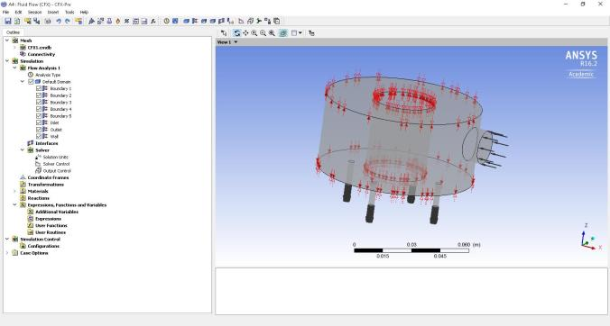 Setup file for ANSYS simulation of LPRD Rocketry liquid propellant rocket engine injector