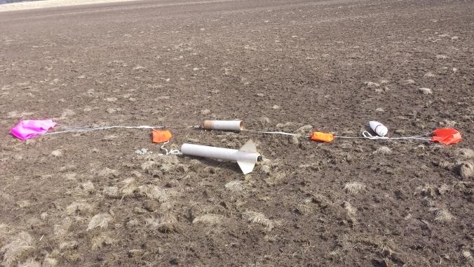 LPRD Rocketry solid rocket one landed after first flight