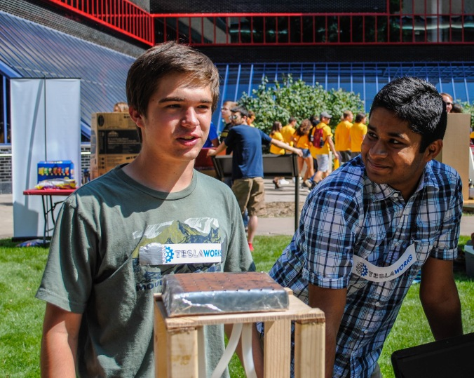 Gaurav and Glen Recruiting people for LPRD Rocketry